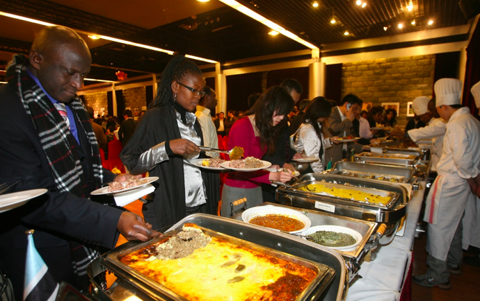 The first African food festival in 2009 in Beijing, China.png