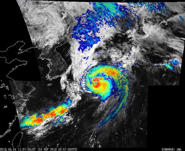 Typhoon Jebi on Sep. 4.Source- Japan Meteorological Agency.jpg