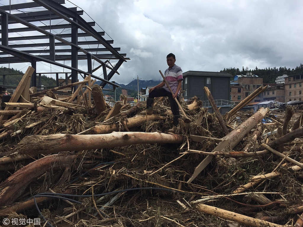 5 dead, 7 injured in flood, mudslide in Mengdong Township, SW China