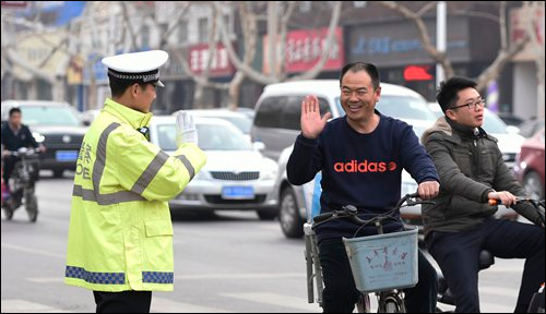 China is improving the working environment for police officers who sometimes face 'violent resistance' over mundane offenses