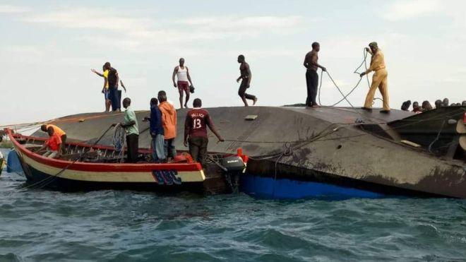 44 dead as Tanzanian ferry capsizes on Lake Victoria