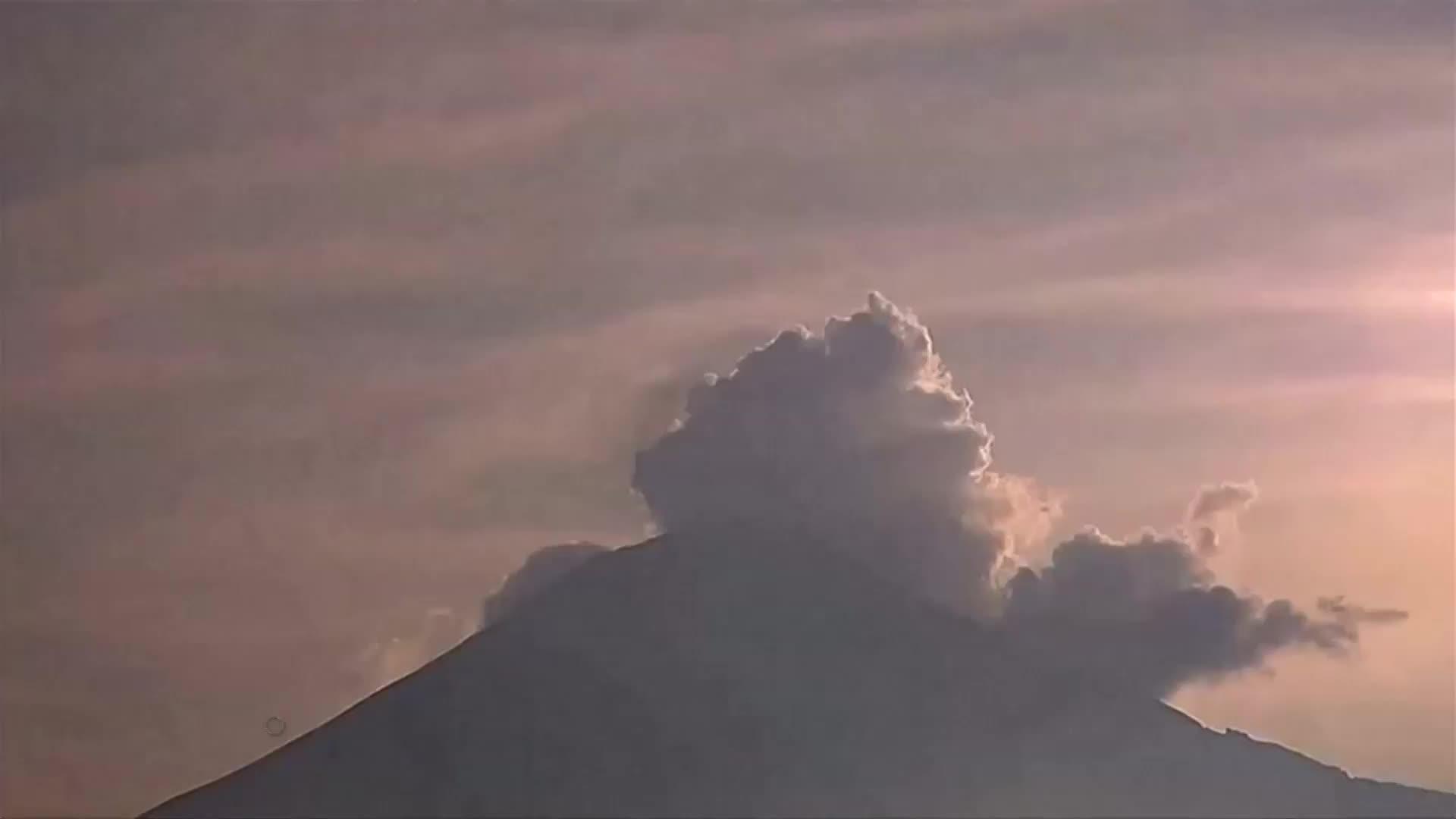 Video: Mexico's Popocatepetl blows its top