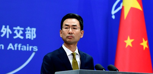 China urges the US to withdraw sanctions on Chinese military