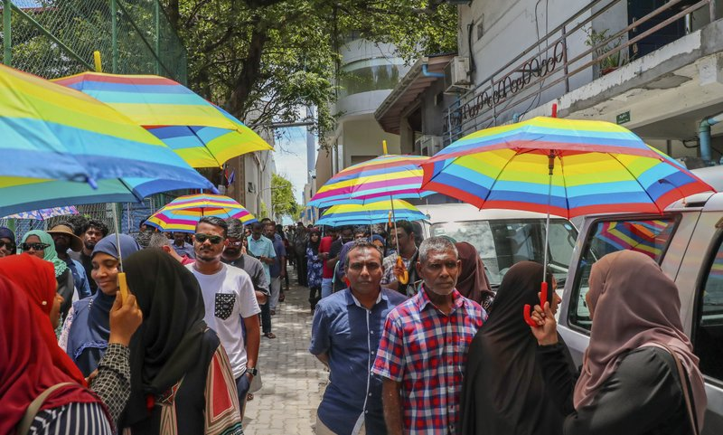 Maldives' opposition presidential candidate claims victory