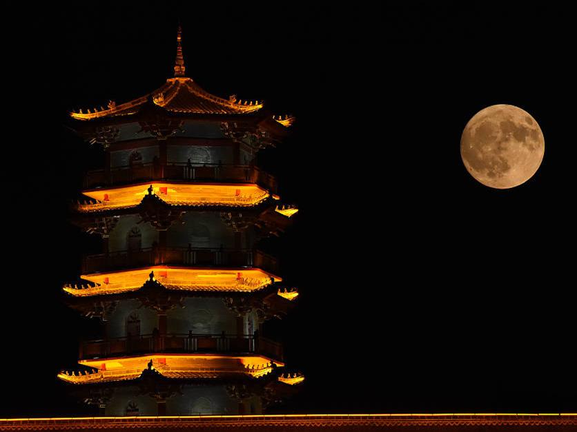 Celebration of Mid-Autumn Festival across China