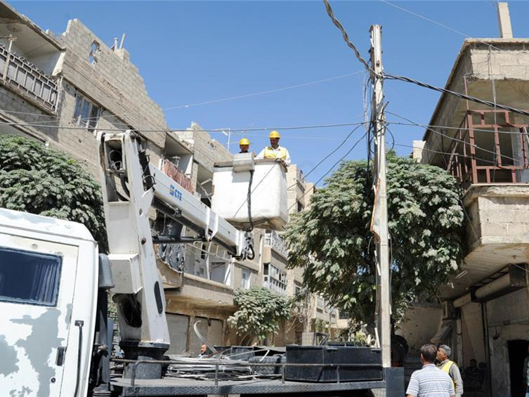 Syrian government starts rehabilitating electricity sector in Eastern Ghouta