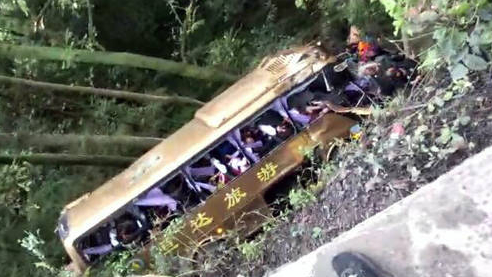 Two killed, several injured as tour bus overturns in SW China