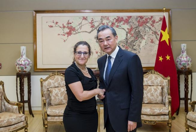 Chinese, Canadian FMs underline multilateralism, rule-based trade