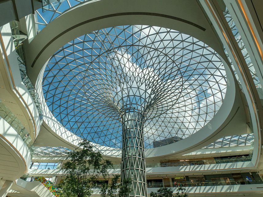 A huge glass-dome built in Shanghai
