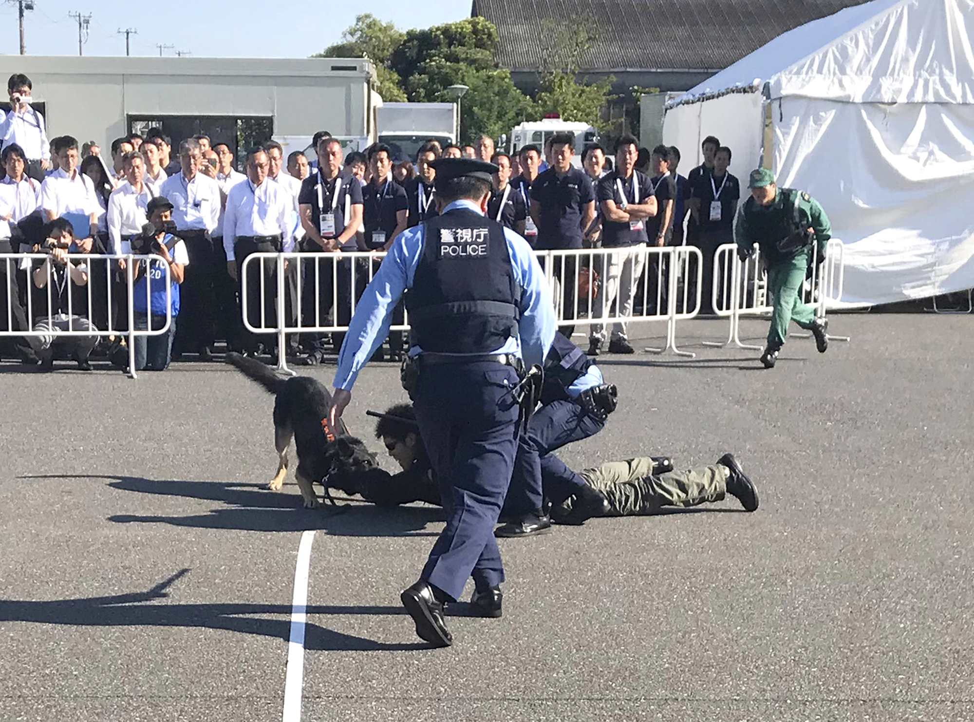 Tokyo Olympic organizers conduct security tests with police