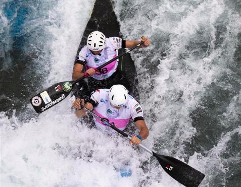 In pics: canoe double mixed final during 2018 ICF Canoe Slalom world championships