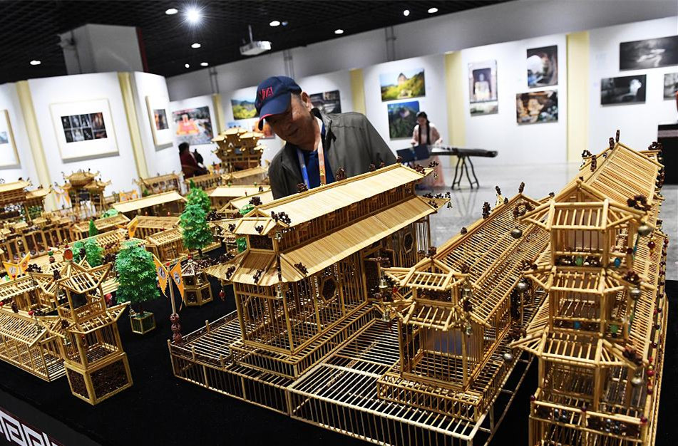 Chinese artist builds micro ancient 'Fuxi City' with over 20,000 bamboo sticks