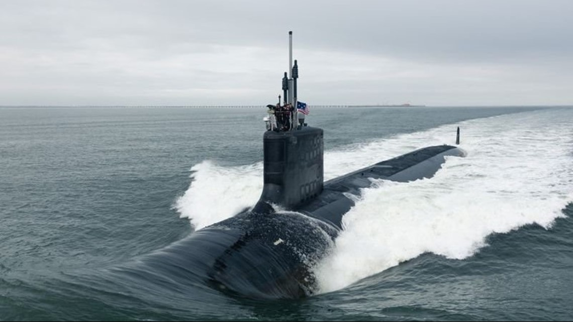 US Navy commissions new attack submarine U.S.S. Indiana