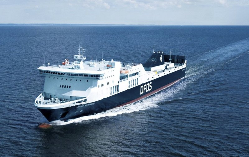 Ferry catches fire in Baltic