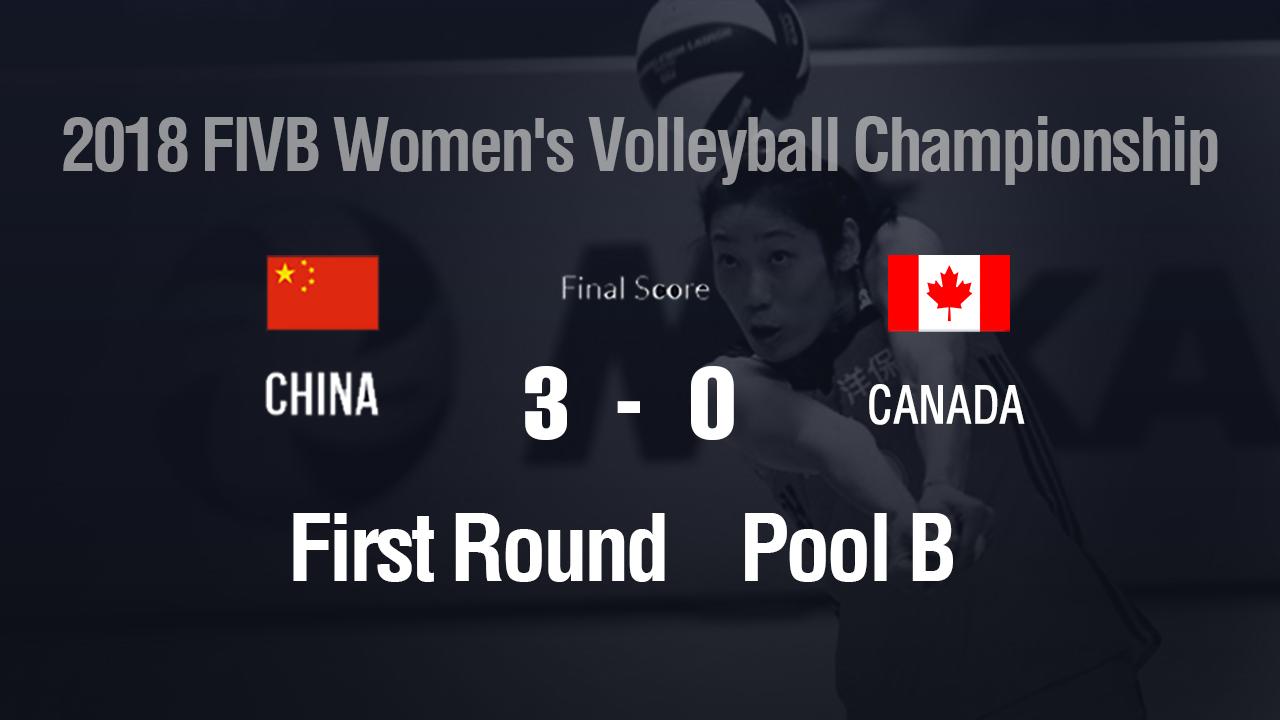 World Volleyball Championship: Chinese women's team beat Canada