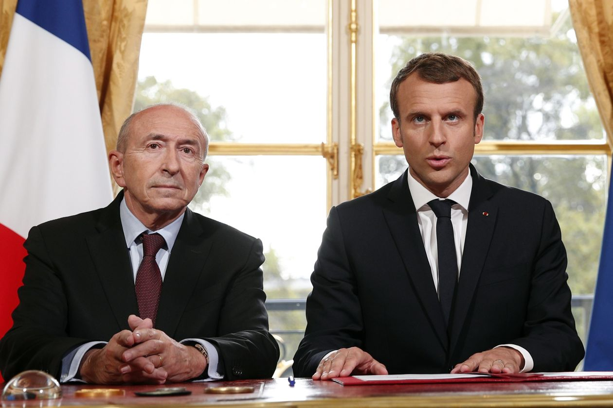 Macron accepts interior minister Collomb's resignation in fresh blow to government