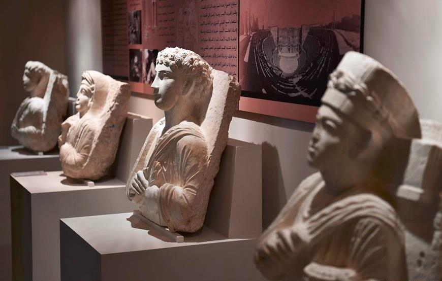 Restored, repaired antiquities displayed in Damascus, Syria