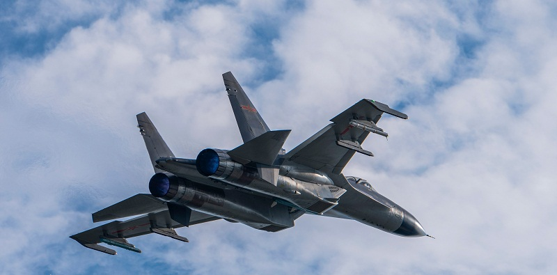 Fighter jets take off for combat flight training