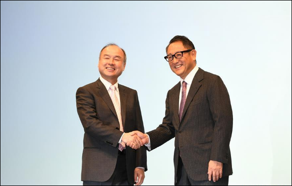 Toyota, SoftBank to jointly develop driverless cars
