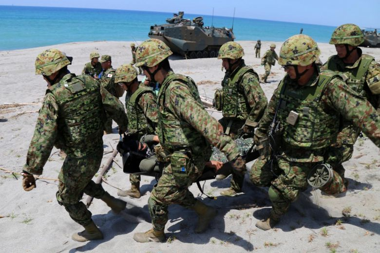 Japan military joins historic Philippine war games