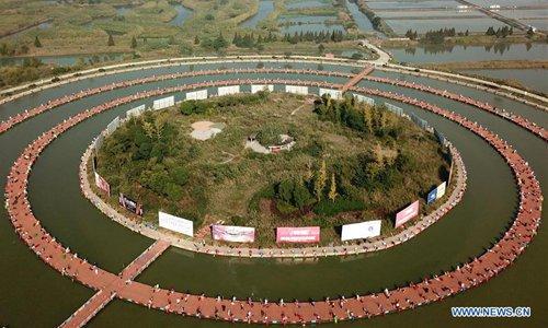 Fishing competition held in wetland of Hongze Lake in China's Jiangsu