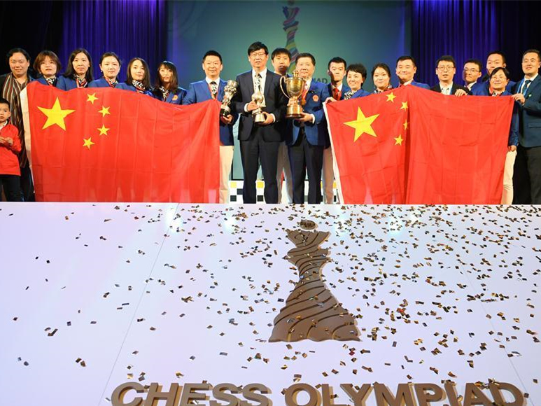 Chinese women and men teams crown at World Chess Olympiad