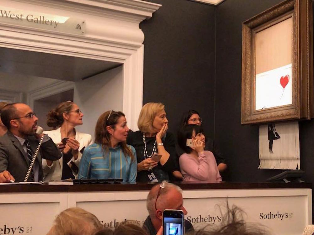 'We just got Banksy-ed' - balloon girl painting self-destructs at sale