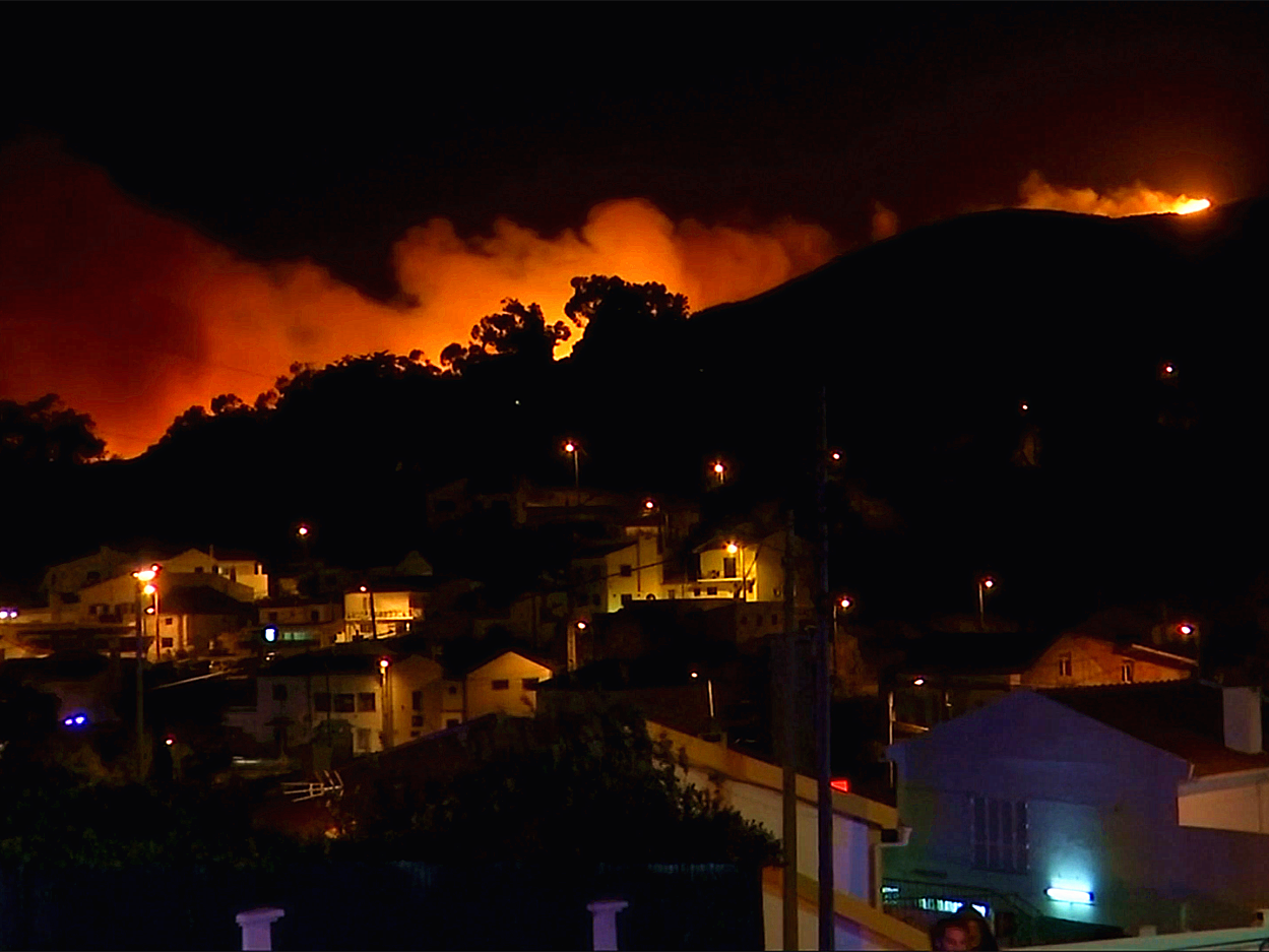 Portugal protected park evacuated as wildfires rage