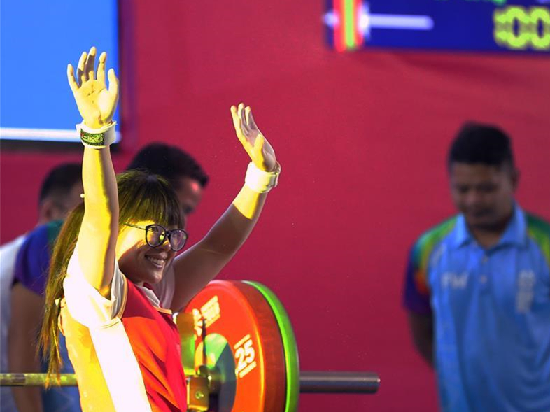 Cui Zhe wins women's 41kg powerlifting for China's first gold