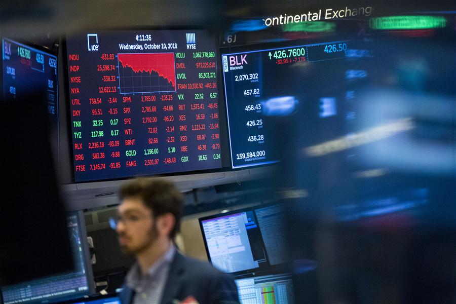 US stocks close sharply lower amid rising rates fears