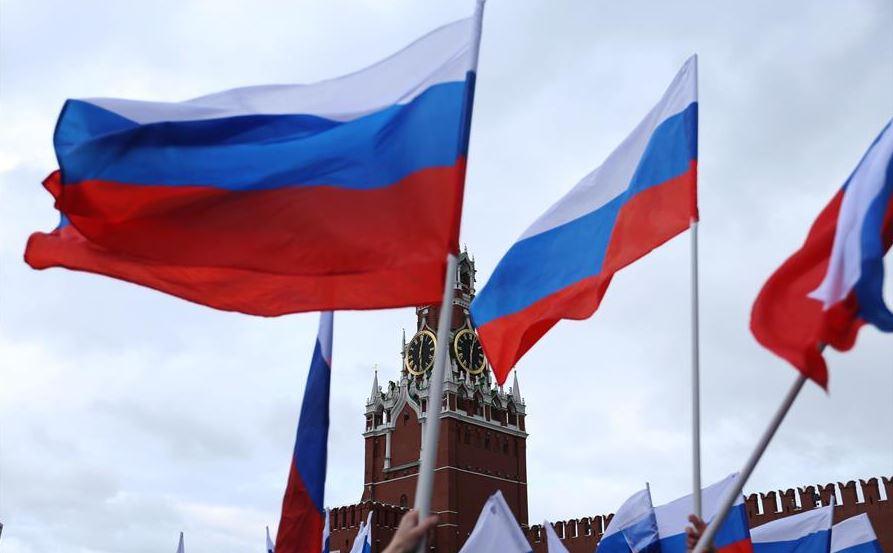file photo xinhua russia flag.JPG