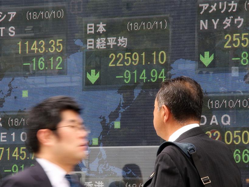 Tokyo stocks open lower on Wall Street's continued selloff, European shares' slump
