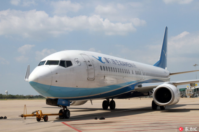 A Boeing 737 jet plane of Xiamen Airlines.[File Photo: IC]