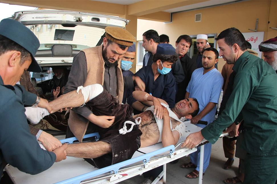 Afghan official: 14 killed in bombing at candidate rally