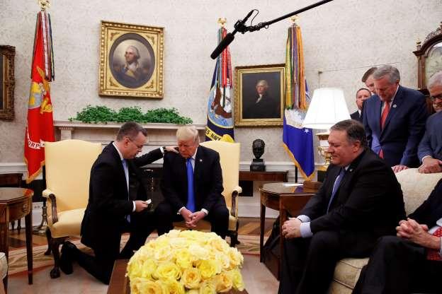 Trump celebrates return of American pastor from Turkey