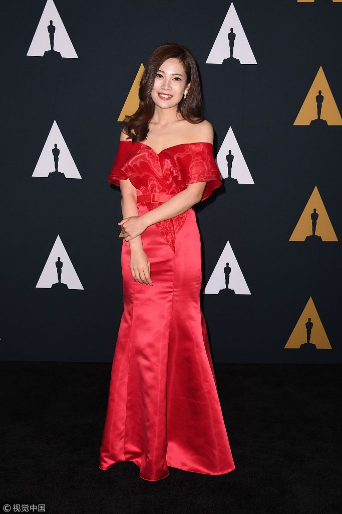 Student filmmaker Hua Tong arrives for the 45th Student Academy Awards Ceremony, at the Academy of Motion Picture Arts and Sciences in Beverly Hills, California on October 11, 2018. [Photo: VCG]