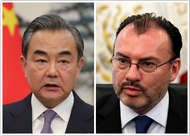 Chinese, Mexican FMs discuss int'l trade over phone