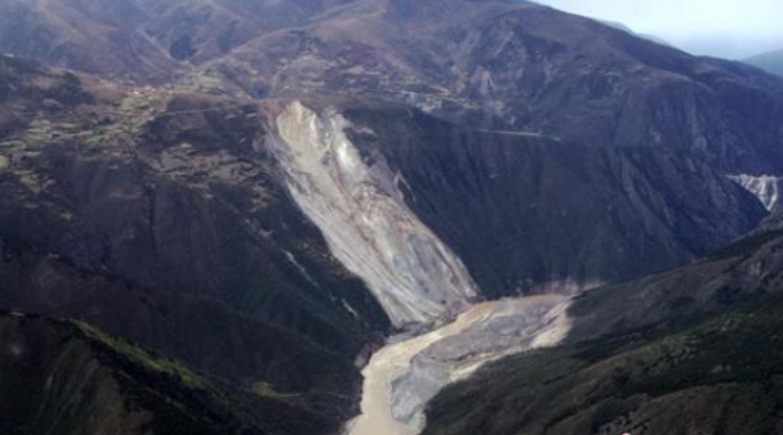 Water level of barrier lake in landslide-hit area in SW China back to normal