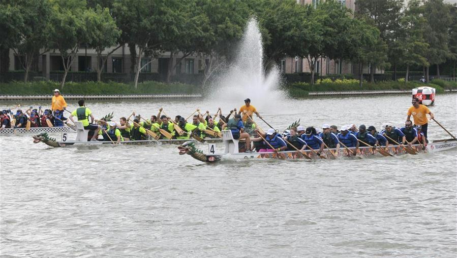 15th Gulf Coast Int'l Dragon Boat Regatta kicks off in Houston, Texas