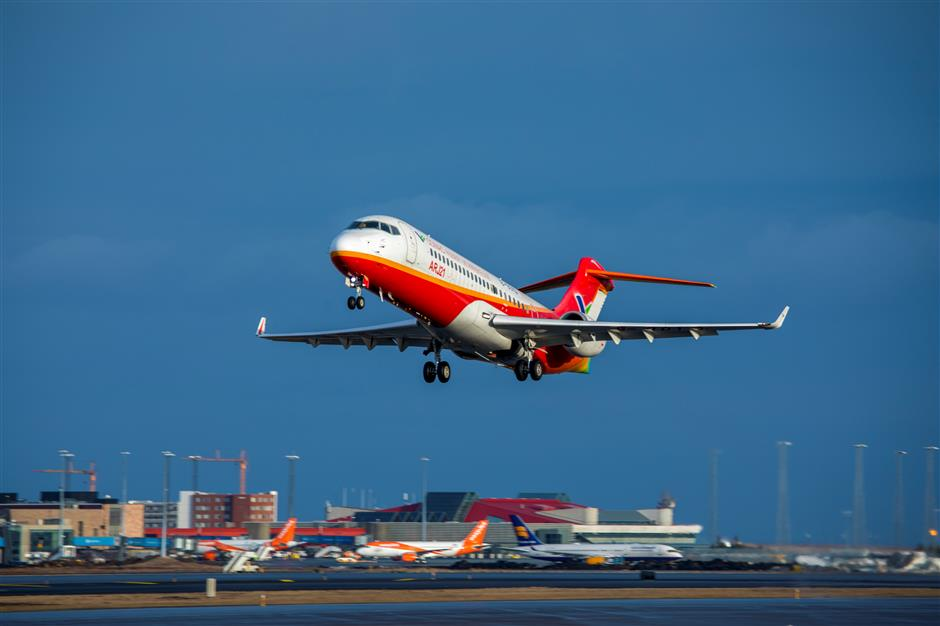 First airline with all China-made jets to operate in Inner Mongolia
