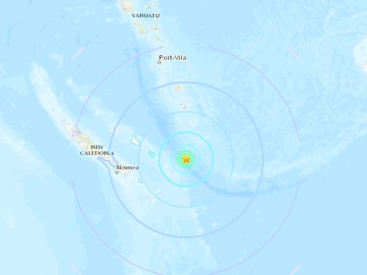 6.8-magnitude quake hits 162km E of Tadine, New Caledonia -- USGS