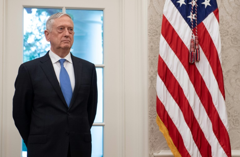 US defence chief Mattis says Trump is '100 percent' with him