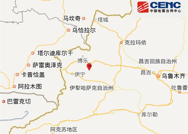 5.4-magnitude quake hits northwest China: CENC