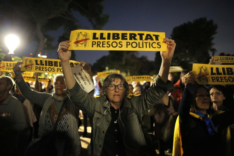 Spain faces calls to release Catalan activists from jail