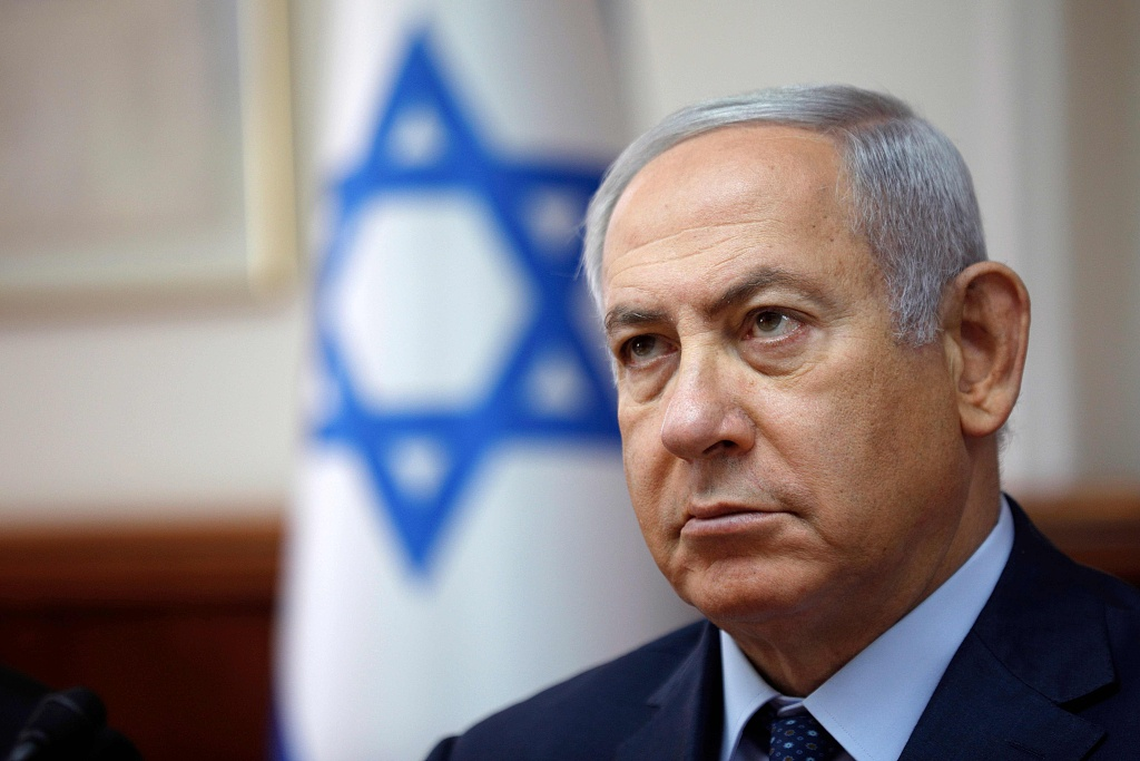 """Israel's Netanyahu vows to stop Gaza rocket fire with """"great force"""""""