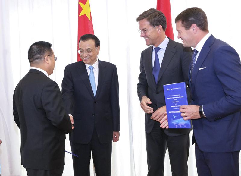 Chinese, Dutch firms ink massive deals