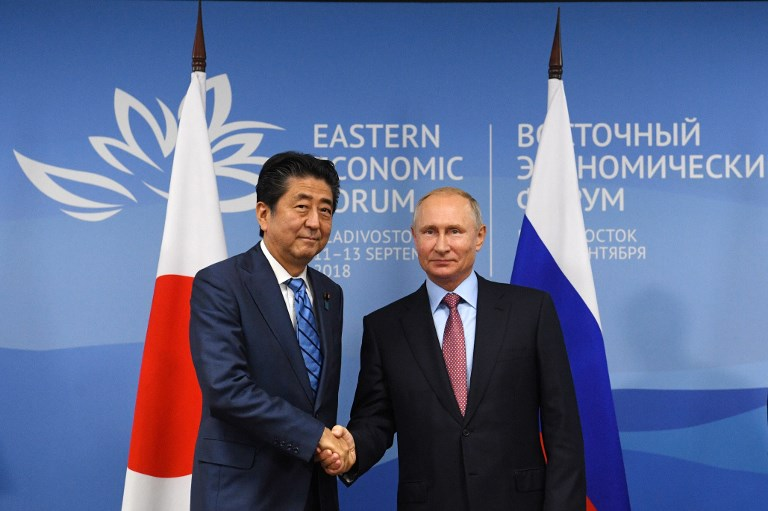 Putin says Abe rejects proposal of Russia-Japan peace treaty
