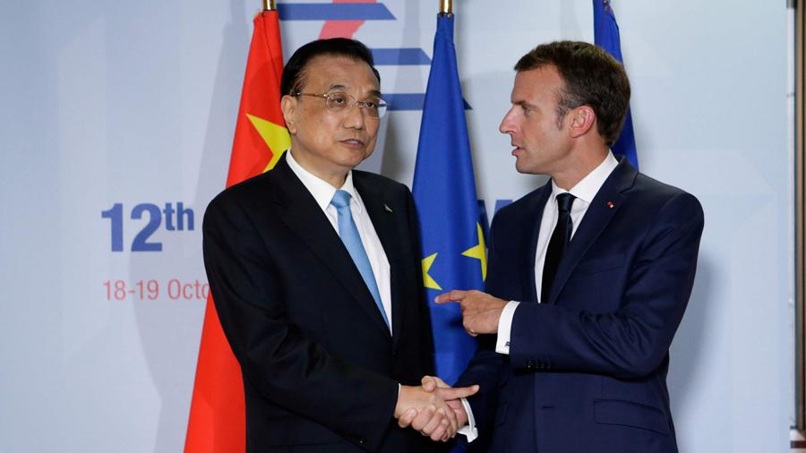 Investment and free trade dominate Li-Macron meeting
