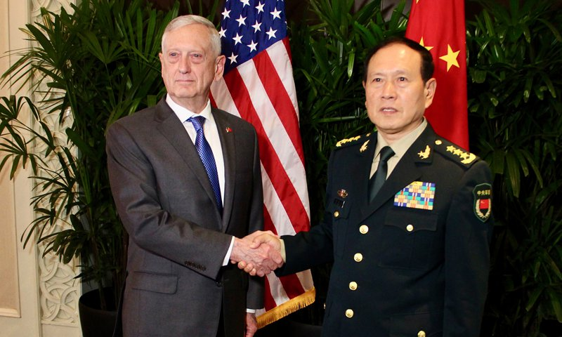 Chinese defense minister calls for China-US dialogues