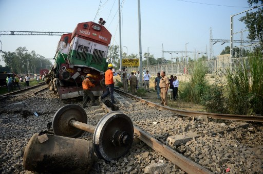 50 feared dead as train runs over people in northern India